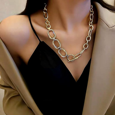 metal thick chain necklace  NHYQ292841's discount tags