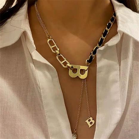 collar de empalme de cadena de letras de tendencia de moda NHYQ292849's discount tags