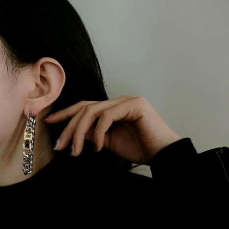metal thick chain earrings  NHYQ292853's discount tags