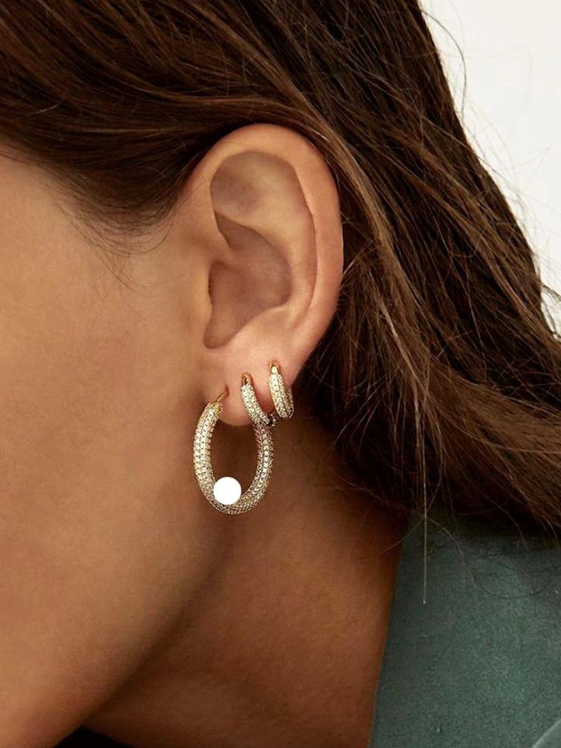microstudded simple diamond earrings NHYQ292861