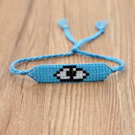 Simple Bohemian Turkey Blue Eyes Beaded  Handmade Bracelet NHGW292912's discount tags