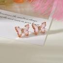 Korea creative fantasy  purple crystal butterfly earrings  NHBQ292941
