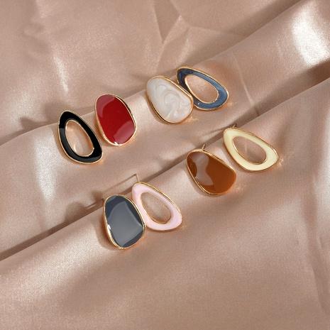 new  Korean  irregular oval earrings  NHBQ292942's discount tags