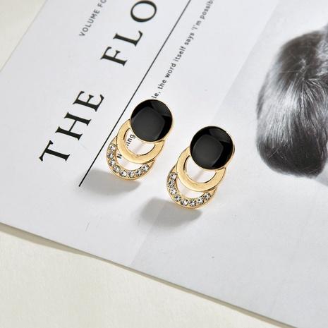Korea diamond earrings  NHBQ292943's discount tags