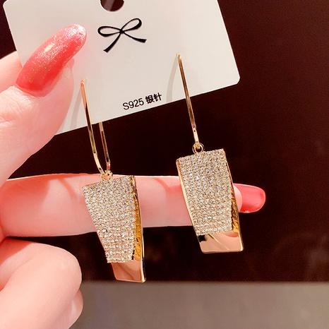 new  full diamond irregular metal earrings NHXI292962's discount tags
