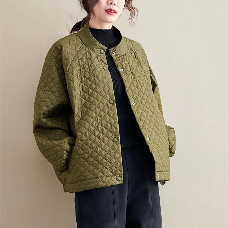 plus size cotton-padded baseball uniform jacket NHIS293165