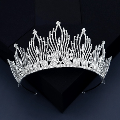 Wedding Jewelry Alloy Rhinestone Crown Headband NHHS293018's discount tags