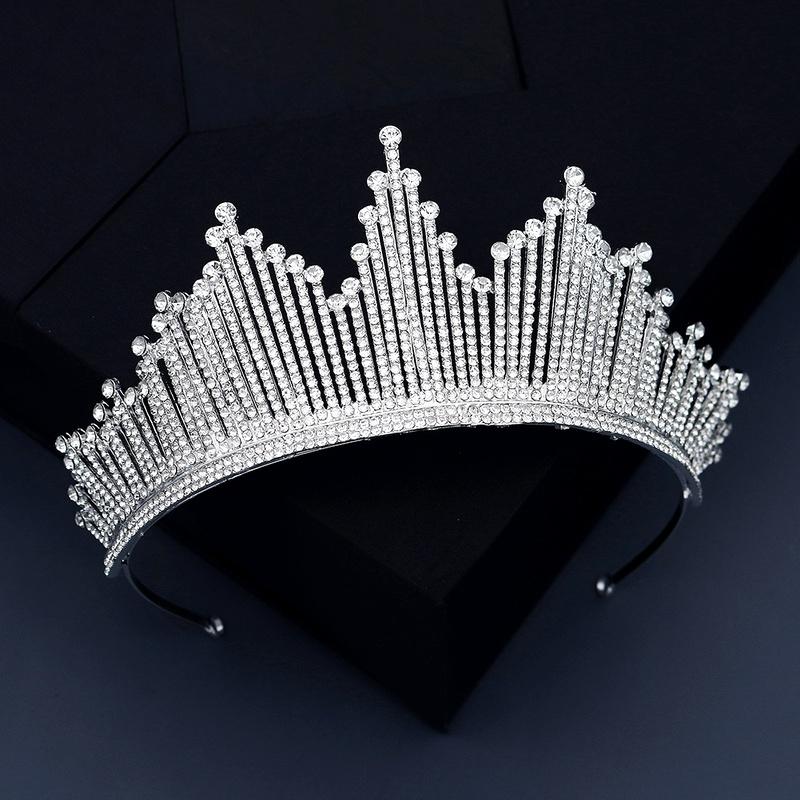 Bridal jewelry full diamond alloy crown NHHS293022