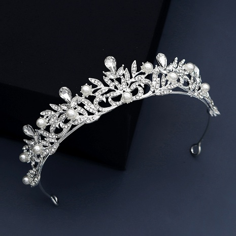 alloy rhinestone pearl crown NHHS293017's discount tags