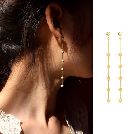 boucles d'oreilles rétro en acier titane givré NHOK292898's discount tags