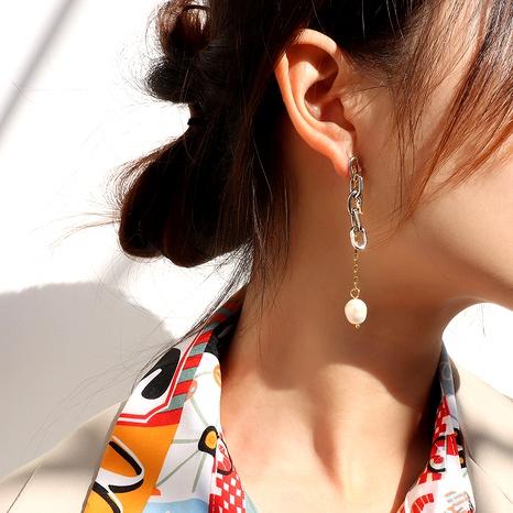 imitation pearl titanium steel earrings NHOK292888's discount tags