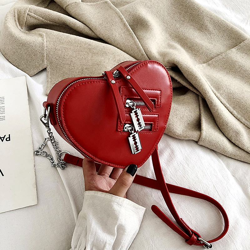 fashion heart messenger shoulder bag NHLH293385