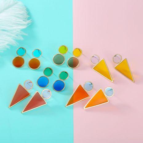Nouveau coréen exquis boucles d'oreilles de mode géométrique couleur boucles d'oreilles résine boucles d'oreilles NHGO196146's discount tags