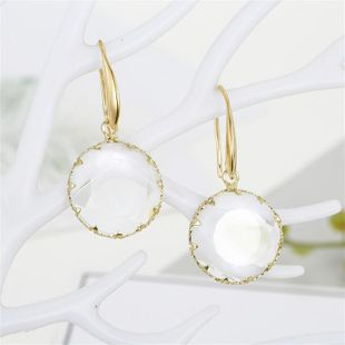 Korean round inlaid crystal earrings NHGO196149's discount tags