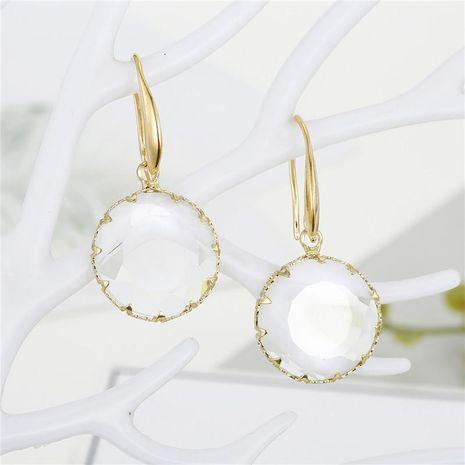 Pendientes de cristal con incrustaciones redondas coreanas NHGO196149's discount tags