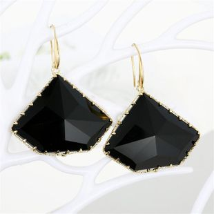 Geometric polygon crystal earrings temperament simple and multi-faceted irregular glass earrings NHGO196152's discount tags