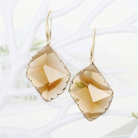 Pendientes de pendientes de cristal poligonales geométricos Pendientes de cristal irregulares con múltiples facetas NHGO196153's discount tags