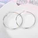 Exaggerated Round Engraved 925 Silver Big Hoop Fashion Simple Big Hoop Earrings NHGO196156
