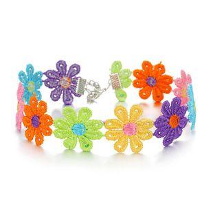 Korea Sun Flower Cotton Choker Necklace Collar Short Necklace Color Flower Clavicle Chain NHGO196157's discount tags