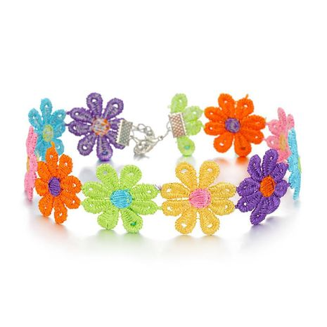 Corea del Sol Flor de Algodón Gargantilla Collar Collar Collar Corto Flor de Color Clavícula Cadena NHGO196157's discount tags