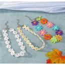Korea Sun Flower Cotton Choker Necklace Collar Short Necklace Color Flower Clavicle Chain NHGO196157