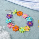 Korea Sun Flower Cotton Choker Necklace Collar Short Necklace Color Flower Clavicle Chain NHGO196157