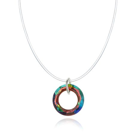 Nuevo Collar invisible Collar de lágrimas de sirena Anillo Collar de circón de color NHGO196162's discount tags