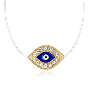 Jewelry Invisible Necklace Zircon Necklace Eye Transparent Devil's Eye Necklace NHGO196163's discount tags