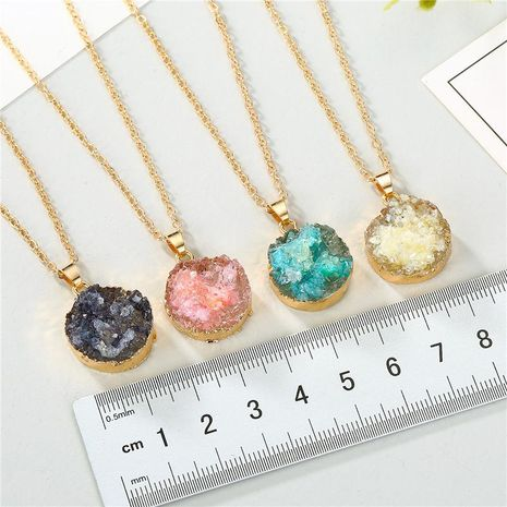 Jewelry Original Shell Necklace Imitation Natural Stone Round Pendant Resin Necklace NHGO196167's discount tags