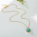 Jewelry Original Shell Necklace Imitation Natural Stone Round Pendant Resin Necklace NHGO196167