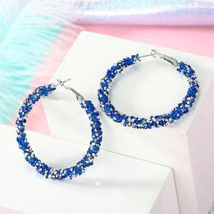 Hand-drilled large earrings rhinestone earrings starry sky earrings resin exaggerated earrings NHGO196174's discount tags