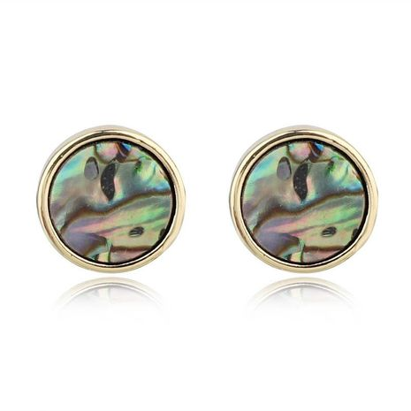 Jewelry round imitation abalone shell earrings colored shell earrings resin earrings NHGO196176's discount tags