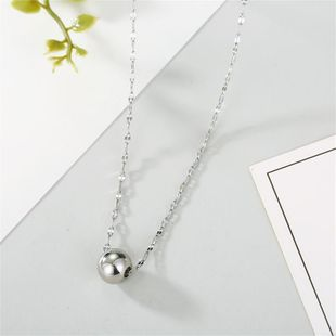 Accessories Stainless Steel Necklace Ball Pendant Necklace Non-fading Classic Simple Chain necklace NHGO196177's discount tags