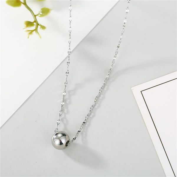 Accessories Stainless Steel Necklace Ball Pendant Necklace Non-fading Classic Simple Chain necklace NHGO196177