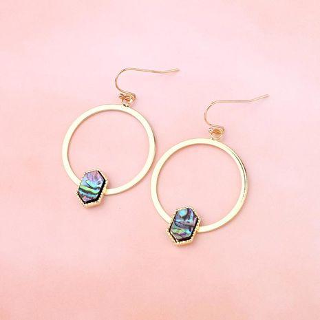 Nueva joyería de imitación de abulón campana gancho hueco redondo hexagonal triángulo Shell pendientes pendientes de resina NHGO196180's discount tags