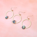 New Jewelry Imitation Abalone Bell Hook Hollow Round Hexagon Triangle Shell Earrings Resin Earrings NHGO196180
