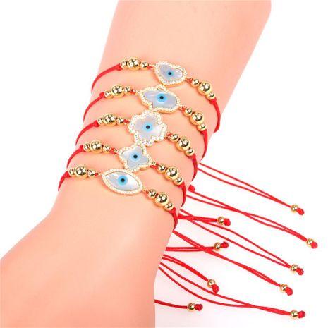 Hot Sale Red Rope Bracelet Fatima Woven Bracelet Cross Border Jewelry Devil Eye Bracelet Wholesale NHPY196196's discount tags