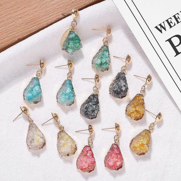Drop-shaped resin earrings fashion earrings simple earring accessories Korean new jewelry NHJQ196250