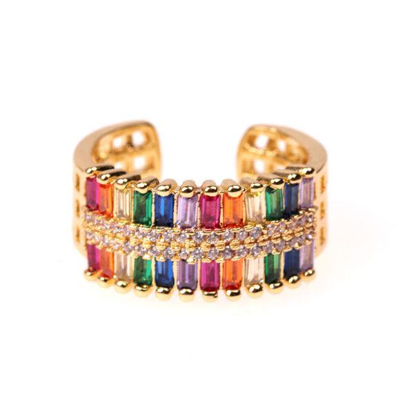 Jewelry new double row zircon open ring wholesale NHPY196217