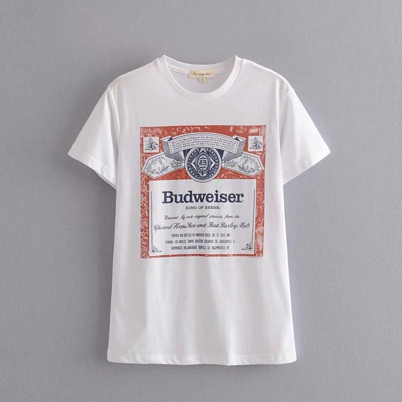 Wholesale Spring Letter Print Short Sleeve Women's T-Shirt Top NHAM196285