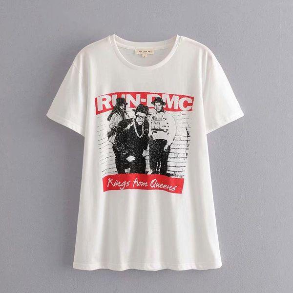 Wholesale Spring Printed Short Sleeve Vacation Women's T-Shirt Top NHAM196382