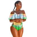 New onepiece swimsuit bikini Amazon explosion models ruffled swimsuit bikini women NHHL196427