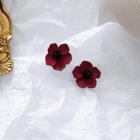 S925 pendientes de flores tridimensionales de plata nuevos pendientes pequeños retro simples NHMS196480's discount tags