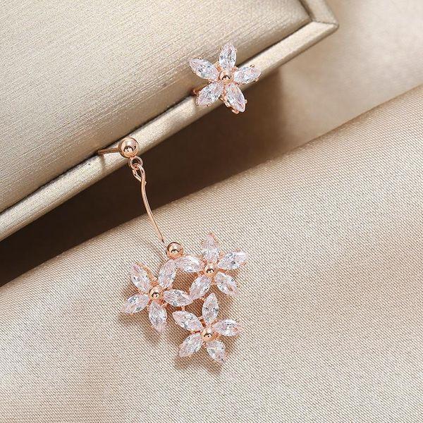 Flower Jewelry Fashion OL Earrings High-grade Copper Earring Jewelry NHKQ196494