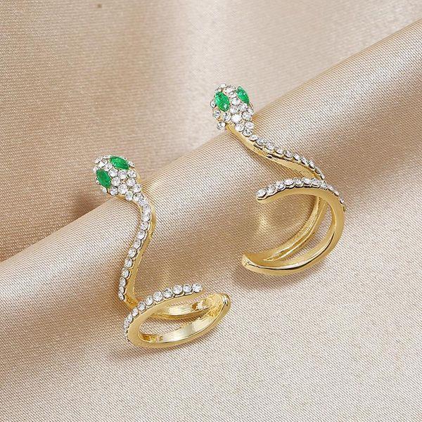 Nuevas joyas creativas de circón pendientes largos femeninos en forma de serpiente pendientes simples en forma de serpiente NHKQ196495