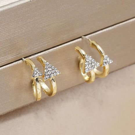 Earrings Vintage Triangle Irregular Ear Pin Exaggerated Ear Jewelry NHKQ196496's discount tags