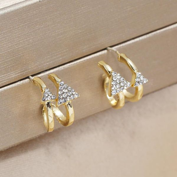 Earrings Vintage Triangle Irregular Ear Pin Exaggerated Ear Jewelry NHKQ196496
