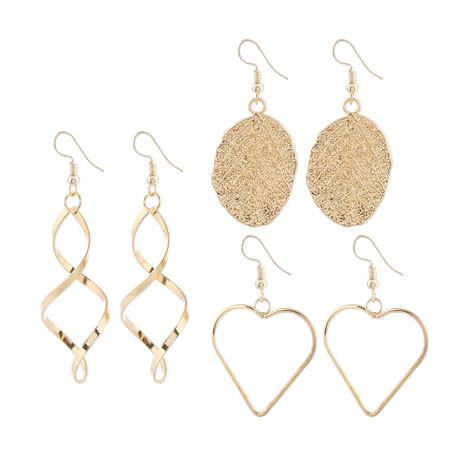Fashion \ simple ear hook heart-shaped hollow alloy earrings wholesale NHKQ196504's discount tags