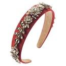 Fashion hair accessories retro baroque court style super flash rhinestone glass diamond flower hair hoop women NHLN196519