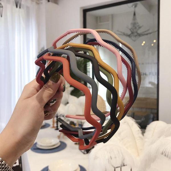 Korean simple hair accessories wavy toothbrushed non-slip non-slip thin hair band headband wash headband NHSM196528